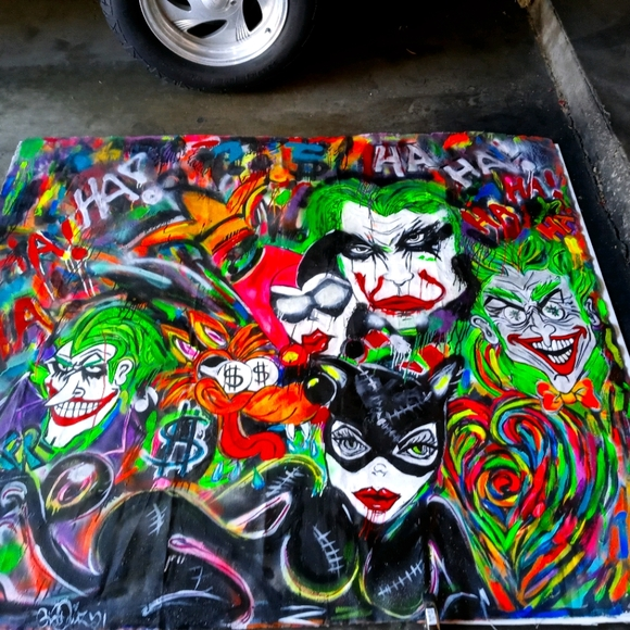 Custom hand painted art